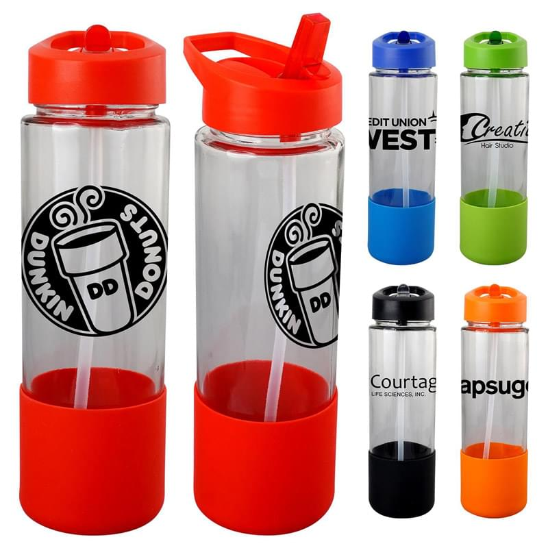Pop Up 22 oz. Glass Grip Bottle
