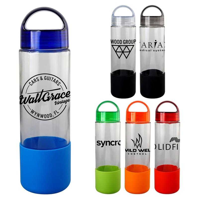 Arch 22 oz. Glass Grip Bottle