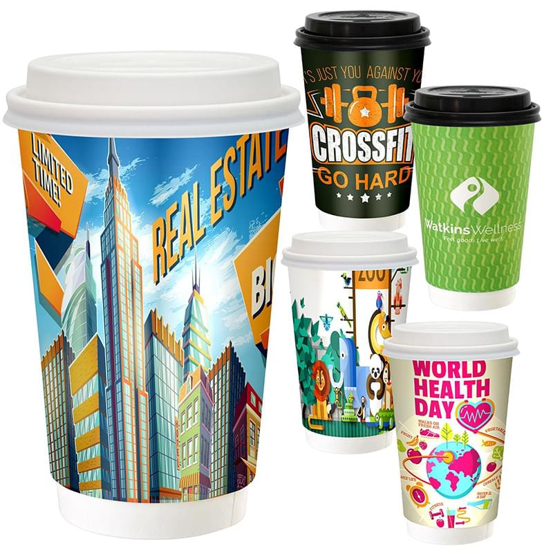 16 oz. Full Color Paper Cup with Lid