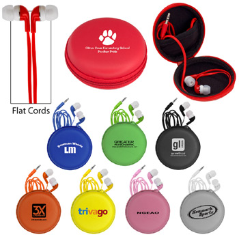 Colorful Premium Ear Bud Round Case