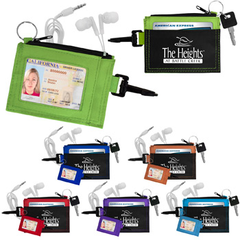 Ear Buds in Travel Wallet