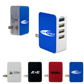UL 4 Port USB Folding Wall Charger