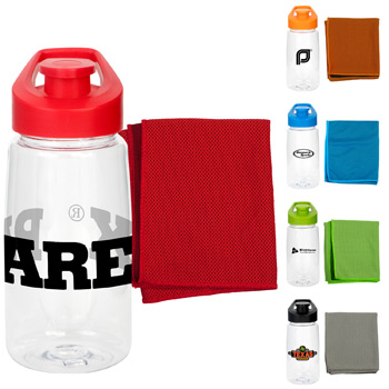 Sport Cloth and Bottle Fitness Set