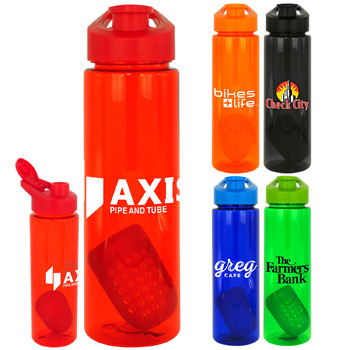 Easy Pour 24 oz. Colorful Bottle with Floating Infuser