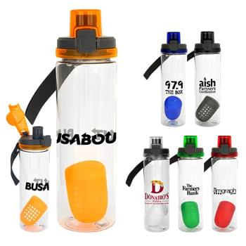 Locking Lid 24 Oz. Bottle with Floating Infuser