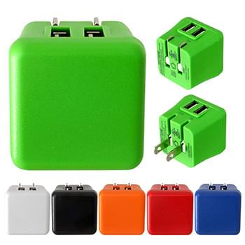 UL Colorful Dual Folding Wall Charger