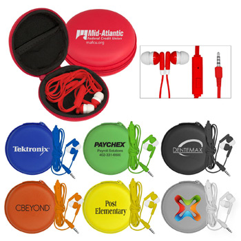 Deluxe Case with Colorful Mic and Ear Buds