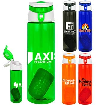 Trendy 24 oz Colorful Floating Infuser Bottle