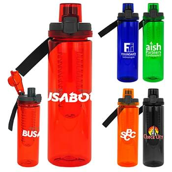 Locking Lid 24 oz. Colorful Bottle with Infuser