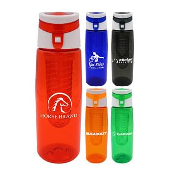 Trendy 25 oz. Colorful Contour Bottle with Infuser