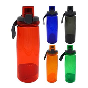 Locking 25 oz. Colorful Contour Bottle with Floating Infuser