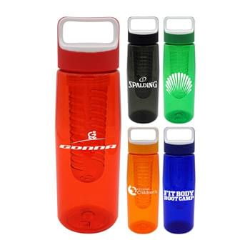 Boxy 25 Oz. Colorful Contour Bottle with Infuser