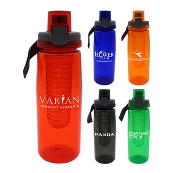 Locking Lid 25 oz. Colorful Contour Bottle with Infuser