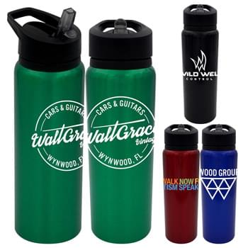 Pop Up 24 Oz. Aluminum Bottle