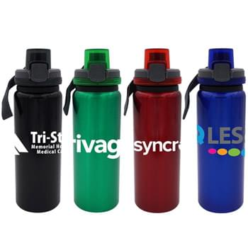 Locking Lid 24 Oz. Aluminum Bottle