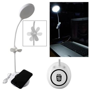 Wireless Charger Fan & Light