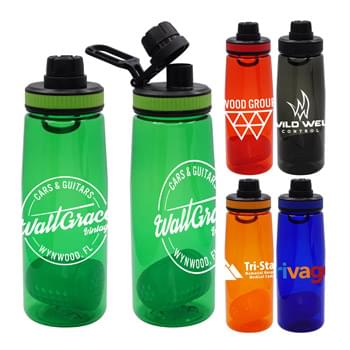 Band-It 25 oz. Colorful Contour Bottle with Floating Infuser