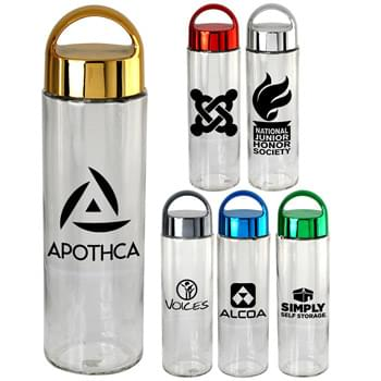 Metallic Arch 22. Oz Glass Bottle