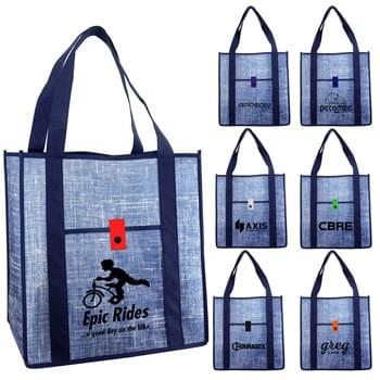 Blue Denim Grocery Tote