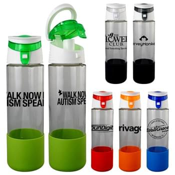 Trendy 22 Oz. Glass Grip Bottle