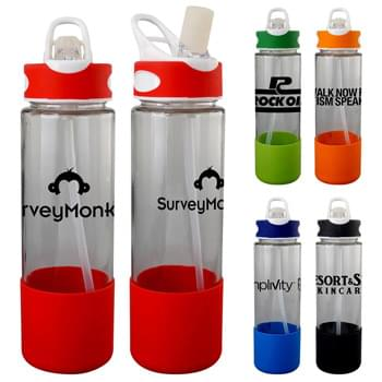 Two-Tone 22 Oz. Glass Grip Bottle