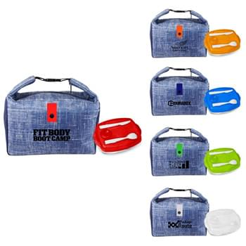 Blue Denim Lunch Tray Set