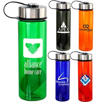 Metal Lanyard Lid Colorful 24 oz. Bottle with Floating Infuser