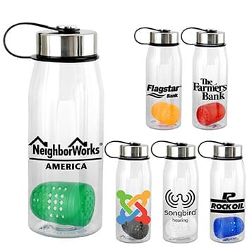 Metal Lanyard Lid 32 oz. Bottle with Floating Infuser
