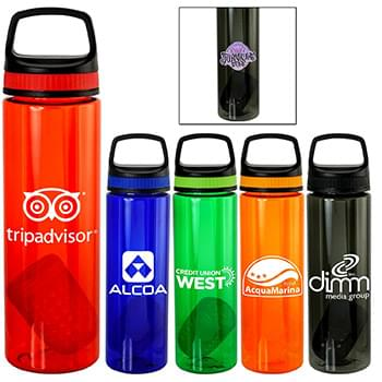 Handy Band-It Colorful 24 oz. Bottle with Floating Infuser