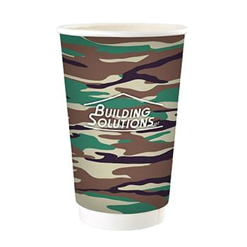 16 oz. Full Color Camo Paper Cup