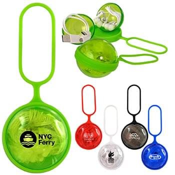 Colorful Sphere Ear Bud Duo Cable Set