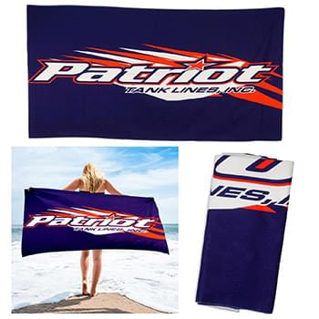 30 x 60 Full Color Plush Cotton Beach Towel