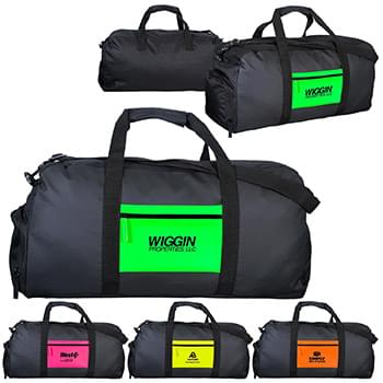 Neon Pocket Duffle Bag
