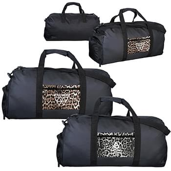Leopard Pocket Duffle Bag