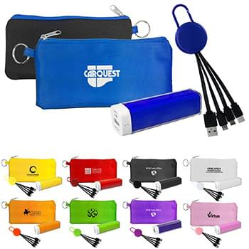 Colorful Power Bank Cable Set