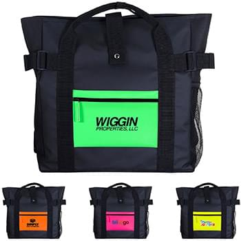 Neon Pocket Tote Backpack