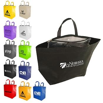 Insulated Snap Grocery Tote