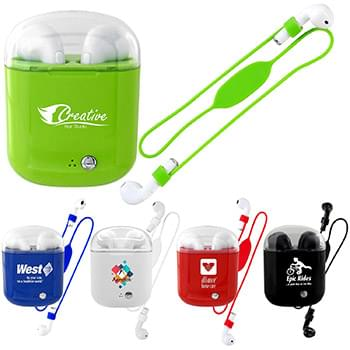 Colorful Handy Periscope Bluetooth Ear Bud Set