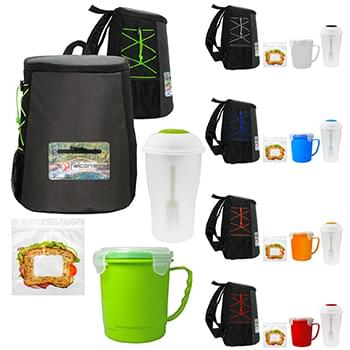 Colorful Soup, Salad & Sandwich Set